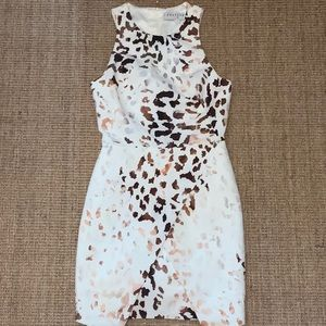Keepsake leopard cocktail dress